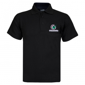 GRASSMEN Black Polo Shirt
