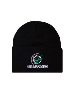 GRASSMEN Beanie Hat Black