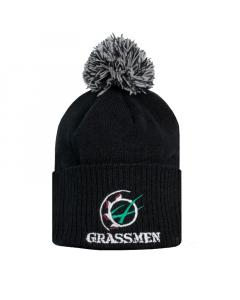 GRASSMEN Bobble Hat Black