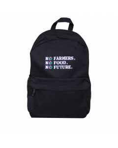 NO FARMERS. NO FOOD. NO FUTURE. School Bag Black