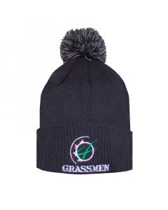 GRASSMEN Bobble Hat Charcoal Grey
