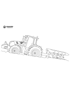 Class & Plough Colouring Page