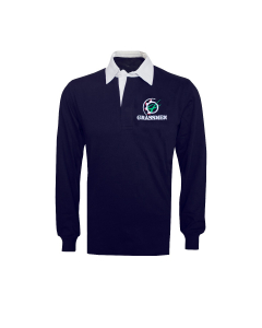 NO FARMERS. NO FOOD. NO FUTURE. Cotton Rugby Jersey Long Sleeved Navy