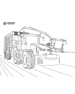 John Deere & Krone at Silage Colouring Page