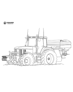 John Deere & Sower Colouring Page