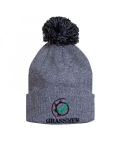 GRASSMEN Bobble Hat Light Grey