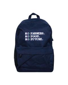 NO FARMERS. NO FOOD. NO FUTURE. School Bag Navy