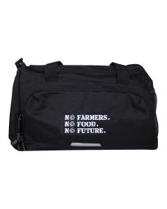 NO FARMERS. NO FOOD. NO FUTURE. Medium Holdall Bag Black