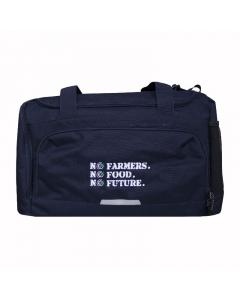 NO FARMERS. NO FOOD. NO FUTURE. Medium Holdall Bag Navy