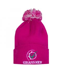 GRASSMEN Bobble Hat Pink