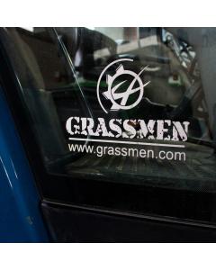 GRASSMEN Window Graphic Small