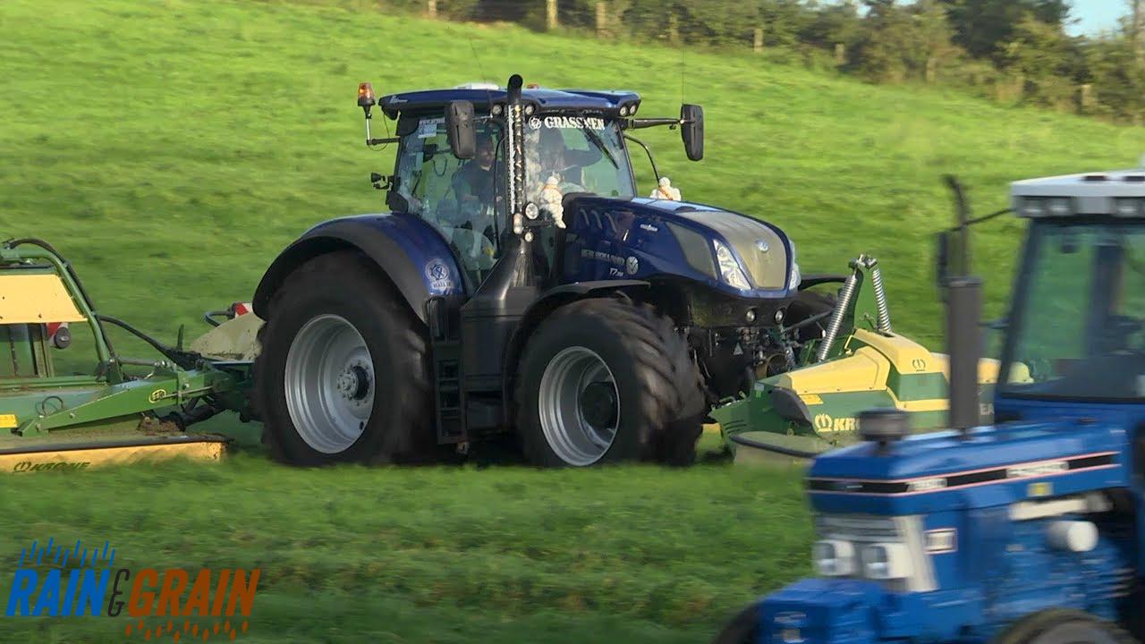 GRASSMEN TV - 'Rain & Grain' Machinery Lineup - Part 1: Mowers & Tedder