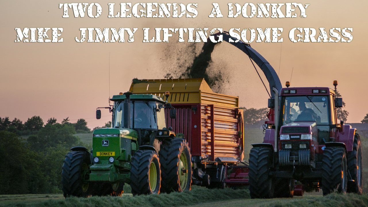TWO LEGENDS & A DONKEY - Mike & Jimmy lifting some grass!
