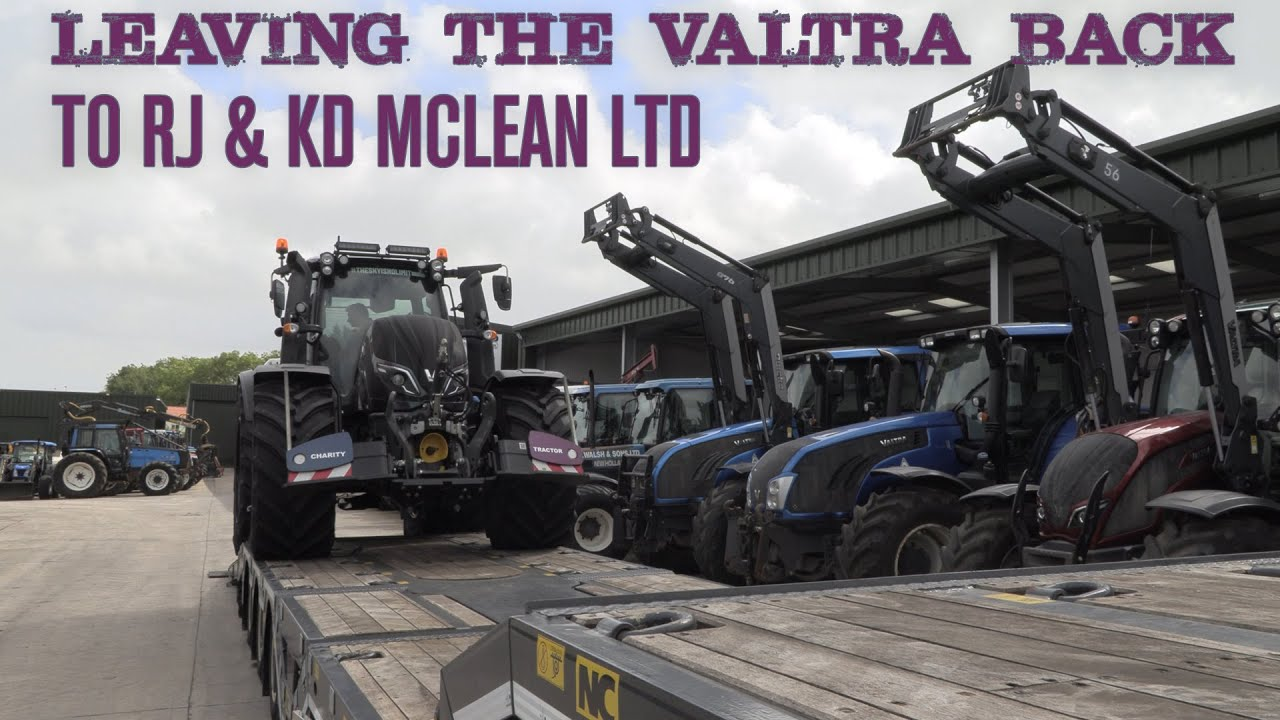 Returning the Valtra to RJ & KD McLean Ltd