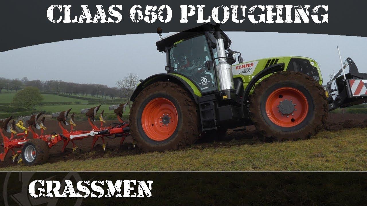 Claas 650 Ploughing