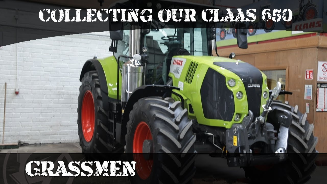 McCarthys Claas- Collecting our new Claas 650 Axion