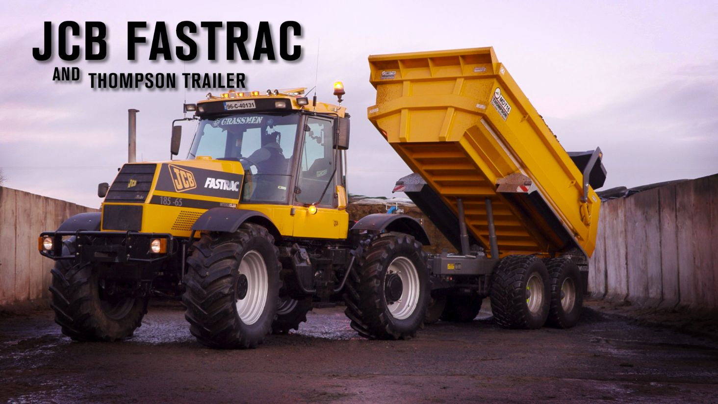 Gary Tests the Fastrac with the New Thompson Dump Trailer