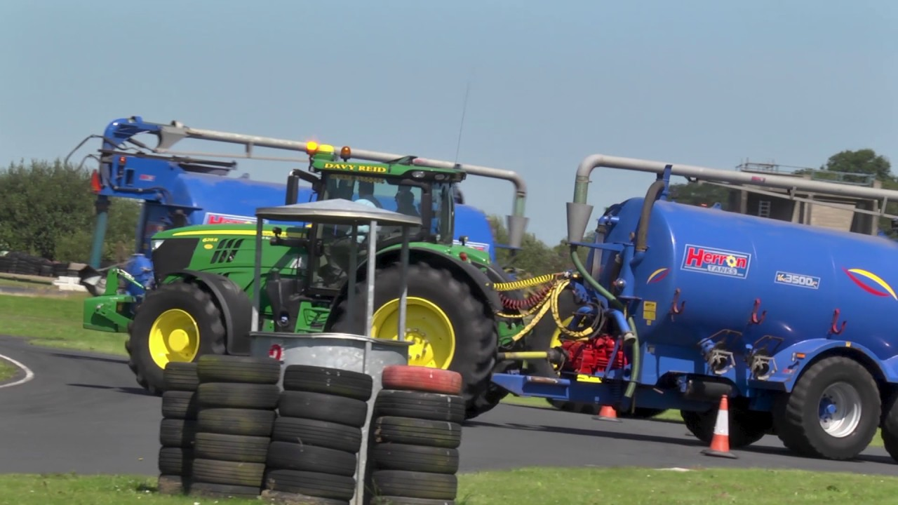 GRASSMEN TV - John Deere 6250R   Nutts Corner Racetrack Demo