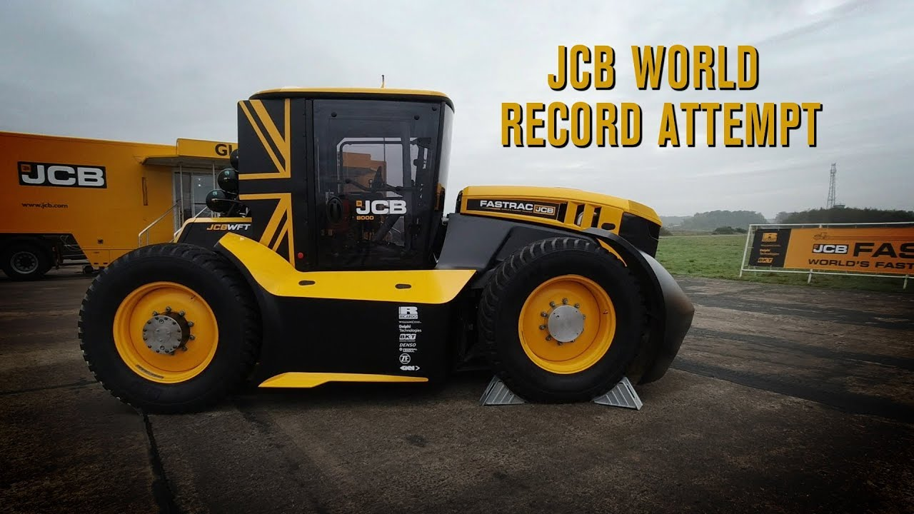 JCB and Guy Martin - World's Fastest Tractor