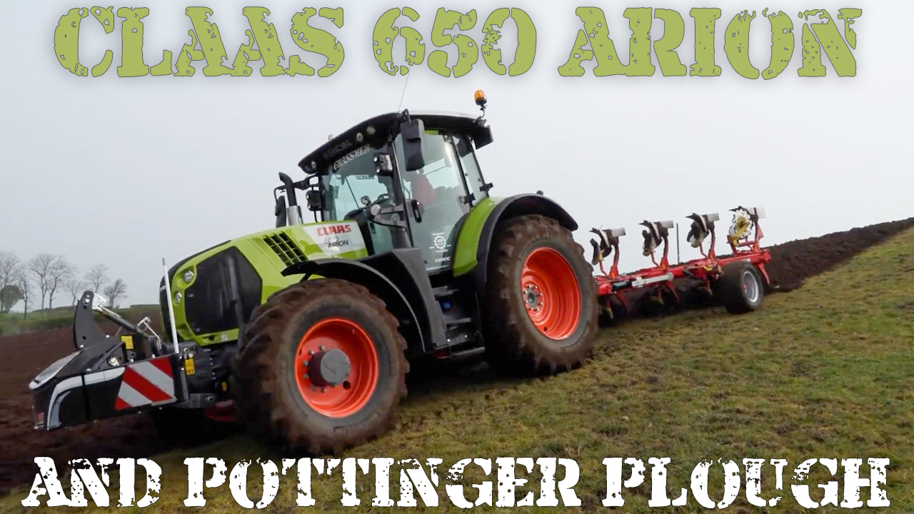 Claas 650 Arion and Pottinger Plough
