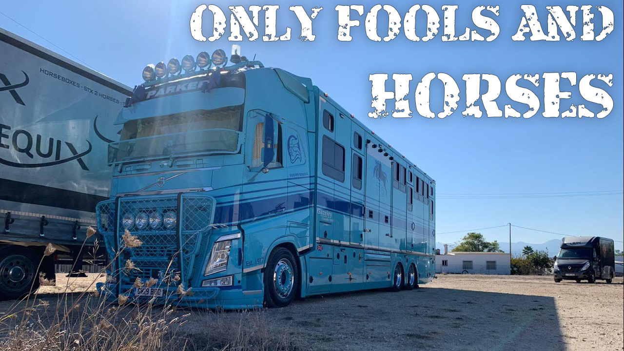ONLY FOOLS AND HORSES - Gary's off to Spain with John Parker International transporting some horses!