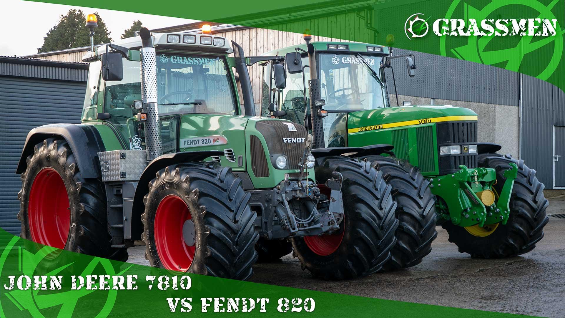 John Deere 7810 vs Fendt 820!