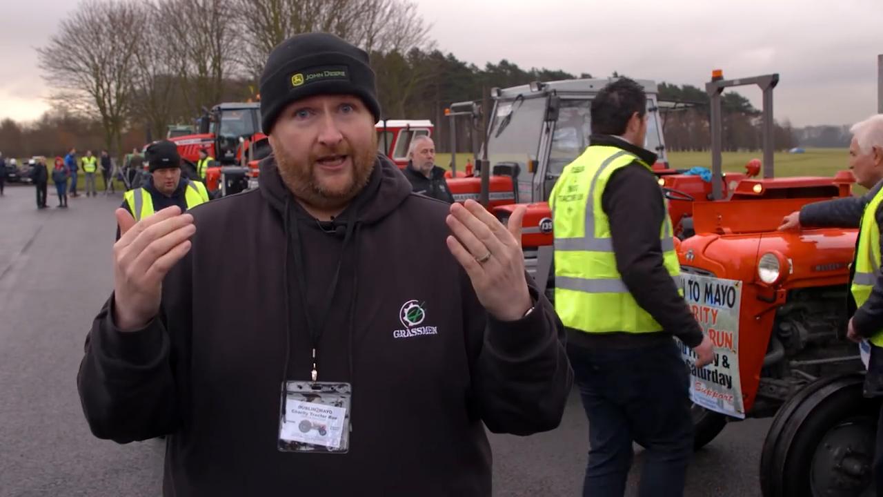 VLOG - Dublin to Mayo Charity Tractor Run
