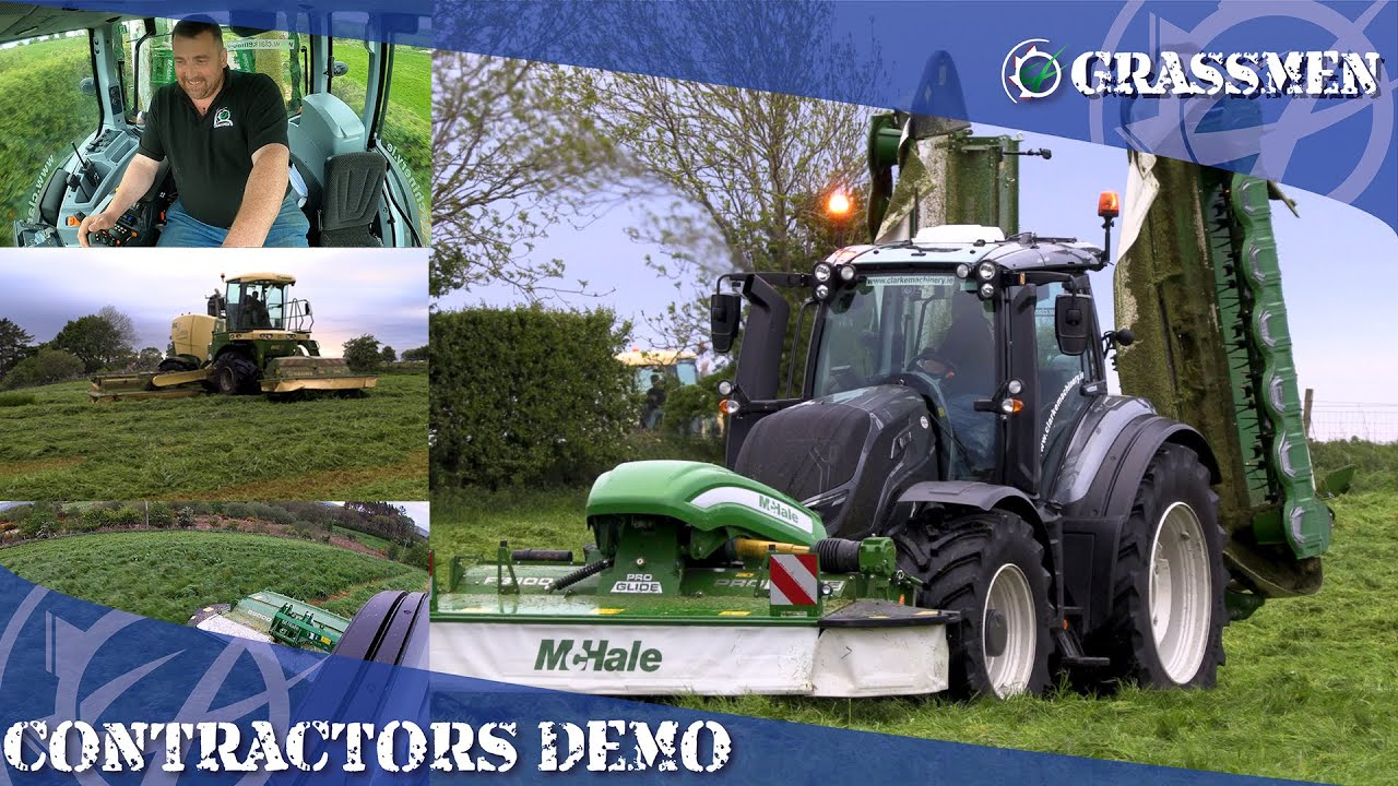 Contractor Demo - DJ McKay Tests the McHale Mowers and Valtra T234