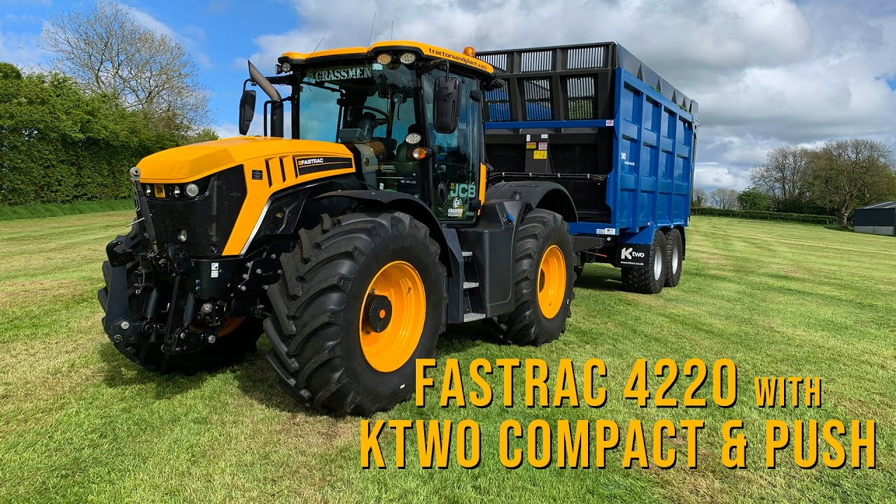 Demoing The Fastrac 4220 and Ktwo Compact & Push Trailer at R. Irwin Ltd.
