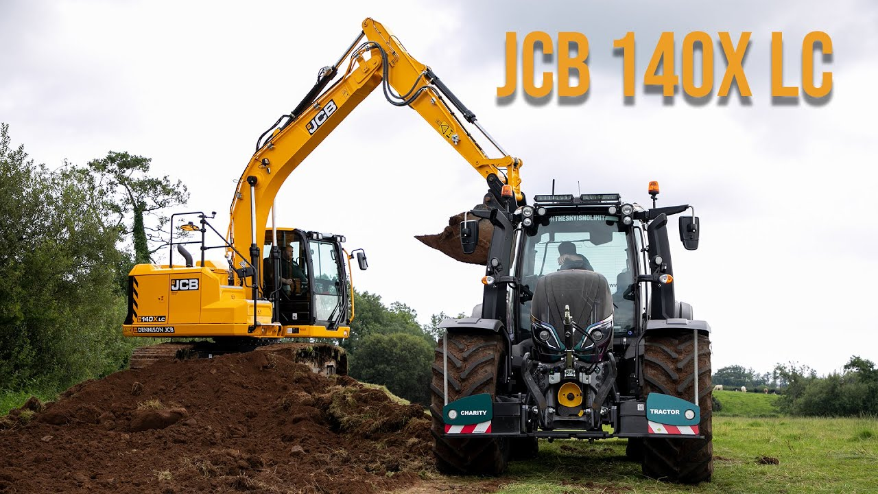 Donkey Gets A Day Out In the JCB 140X LC!