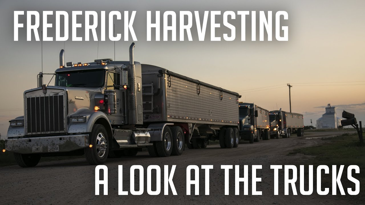 Frederick Harvesting- A look at the trucks