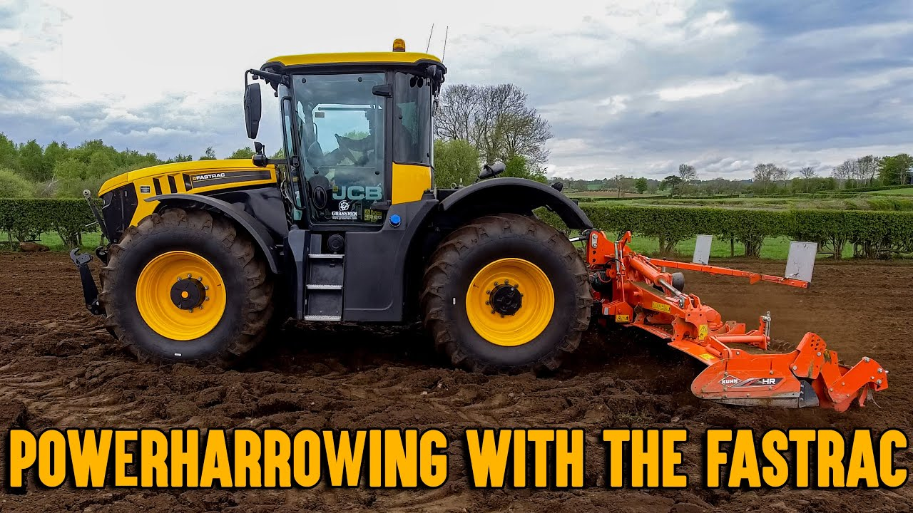 Powerharrowing with the Fastrac!