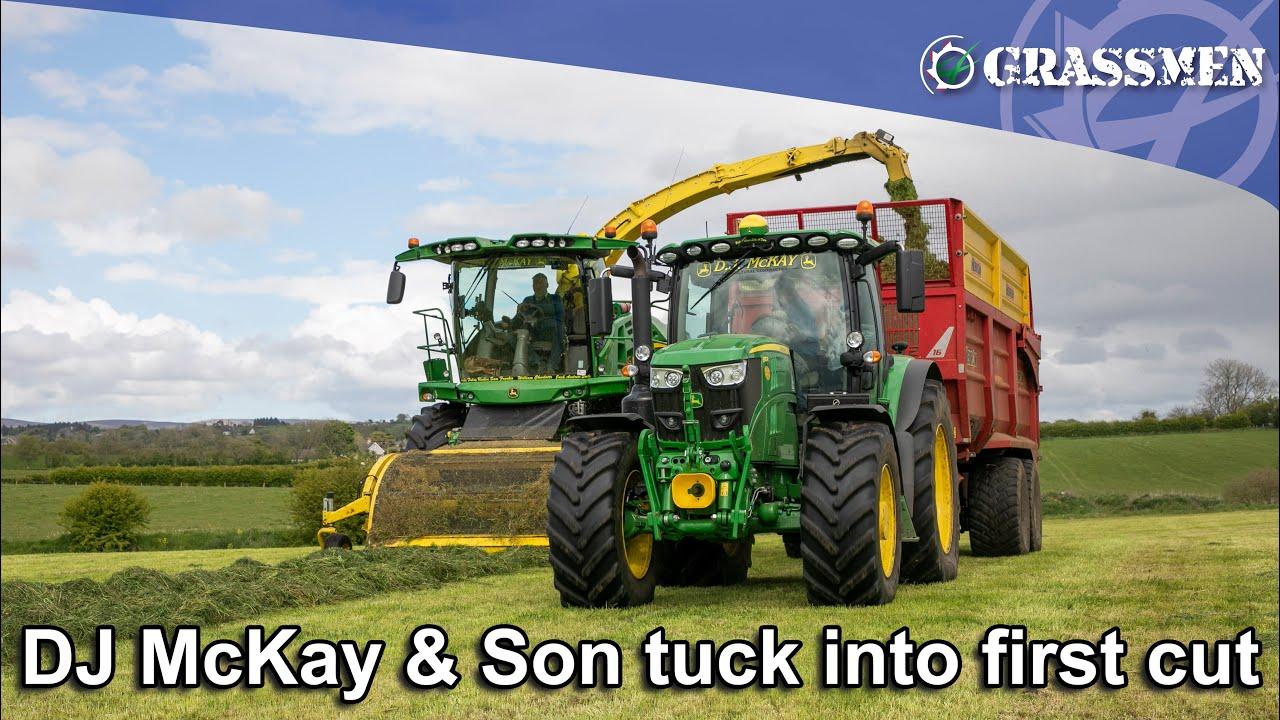 DJ McKay & Son tuck into first cut!