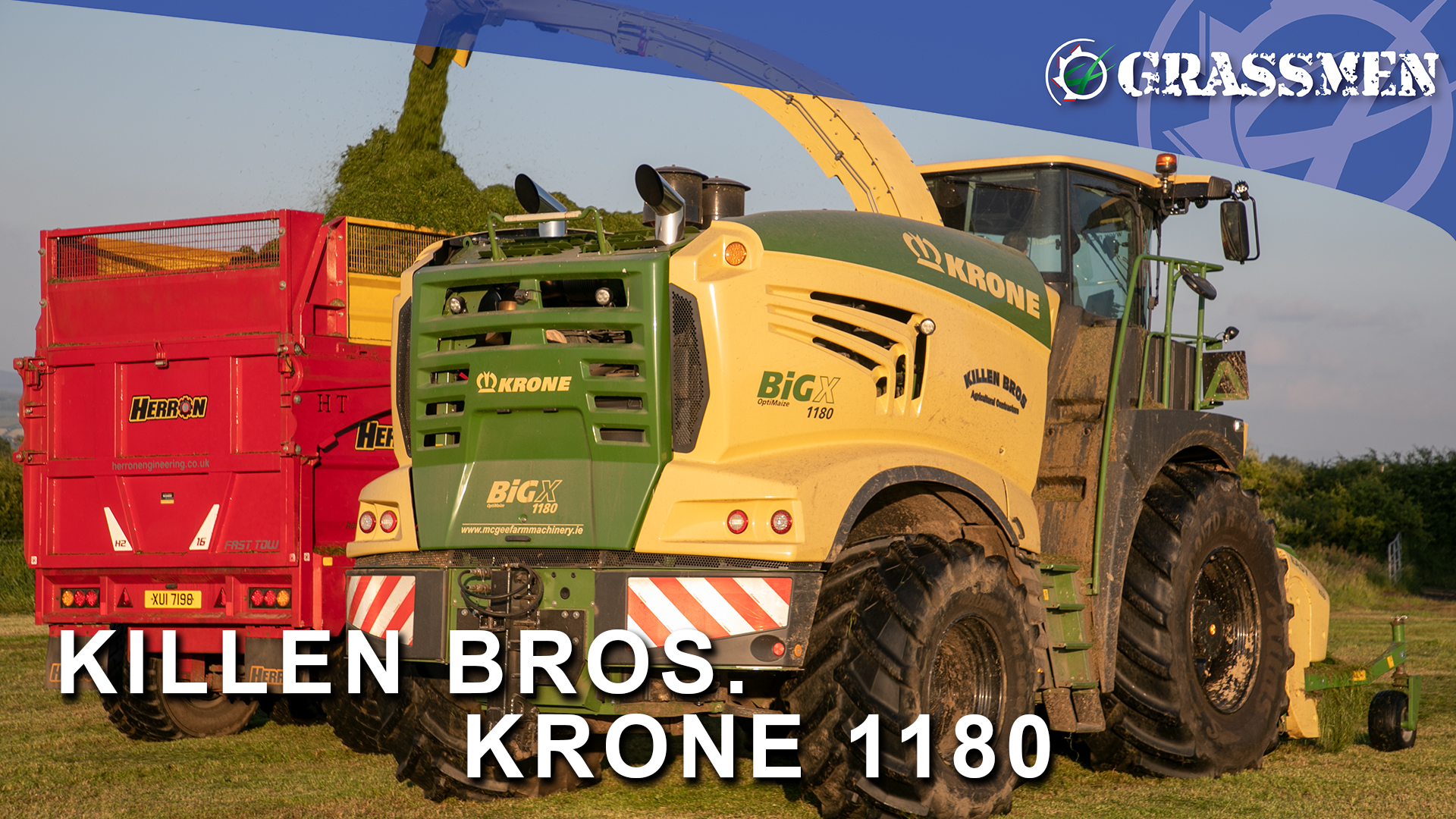 KILLEN BROS CONTRACTING SECOND CUT WITH THEIR MIGHTY KRONE 1180!