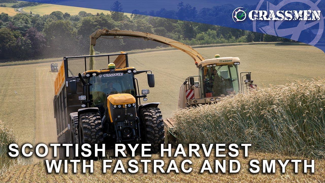 Donkey and Gazza Take the JCB Fastrac to the Scottish Rye Harvest!