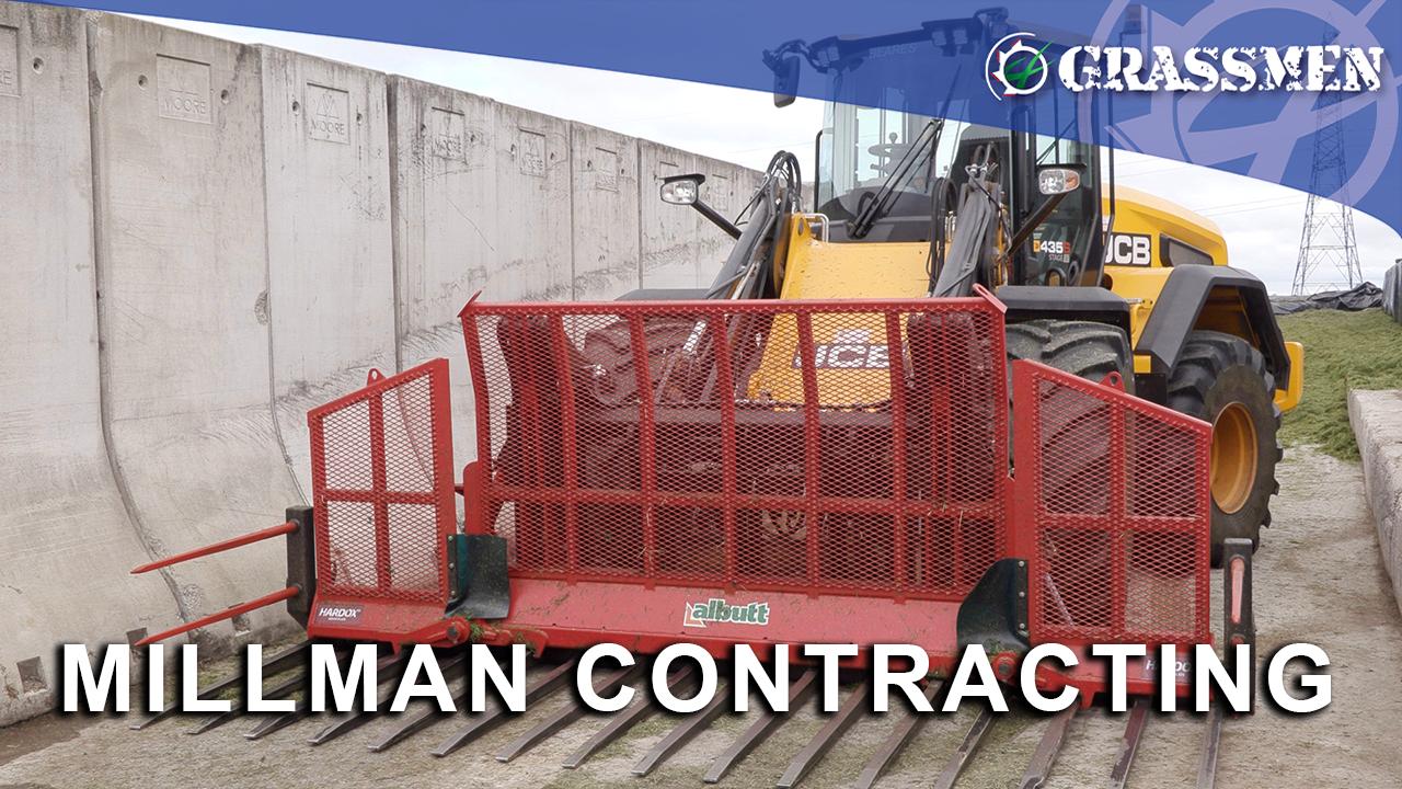 Millman Contracting Demoing the Albutt Folding Push Off Buckrake!